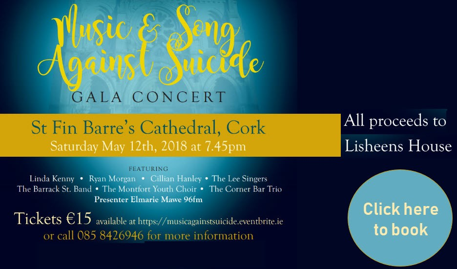 Gala Concert 12th May at St Fin Barre's Cathedral Cork